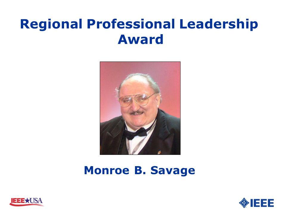 Monroe B. Savage Regional Professional Leadership Award