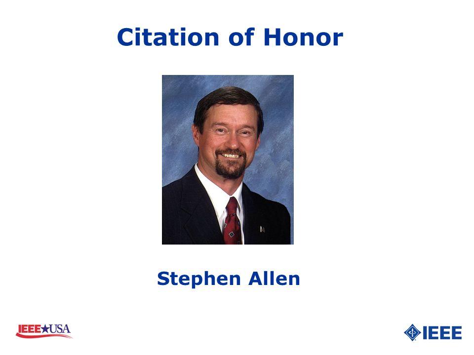 Stephen Allen Citation of Honor