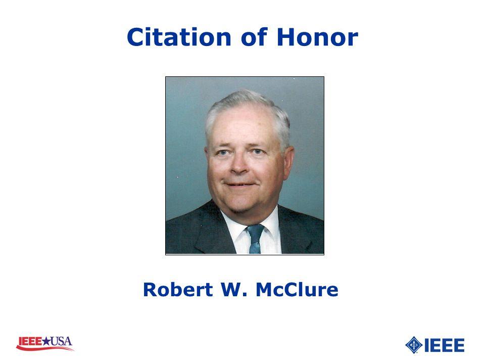 Robert W. McClure Citation of Honor