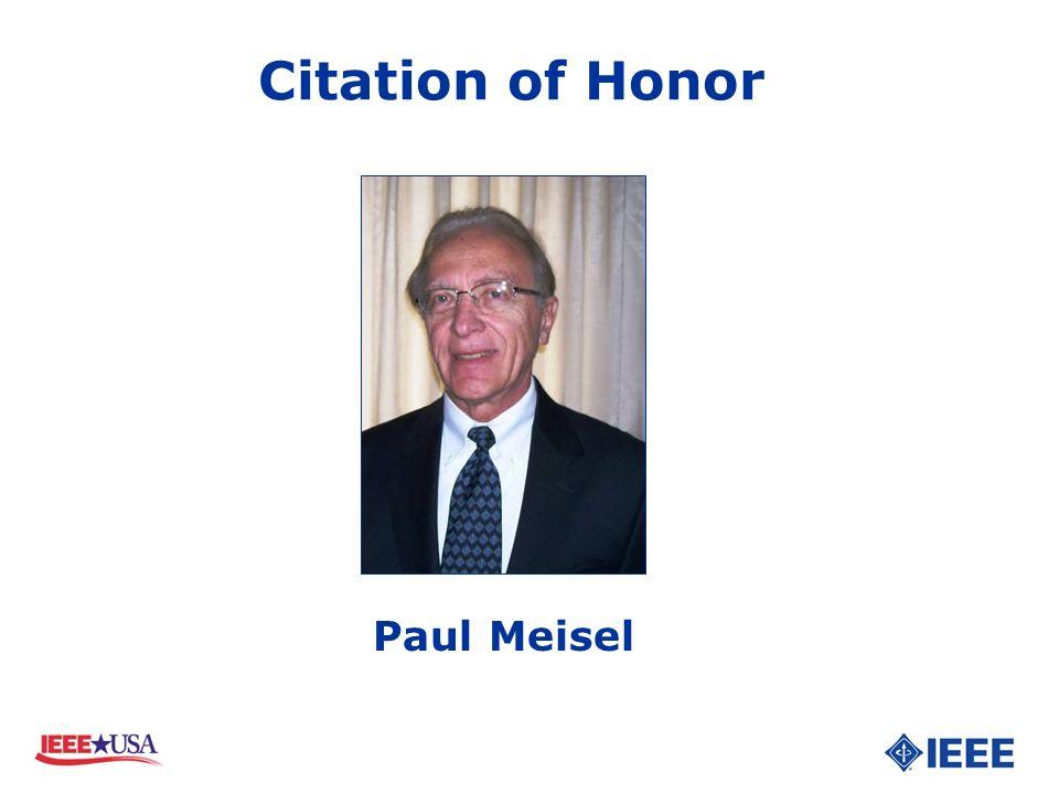 Paul Meisel Citation of Honor