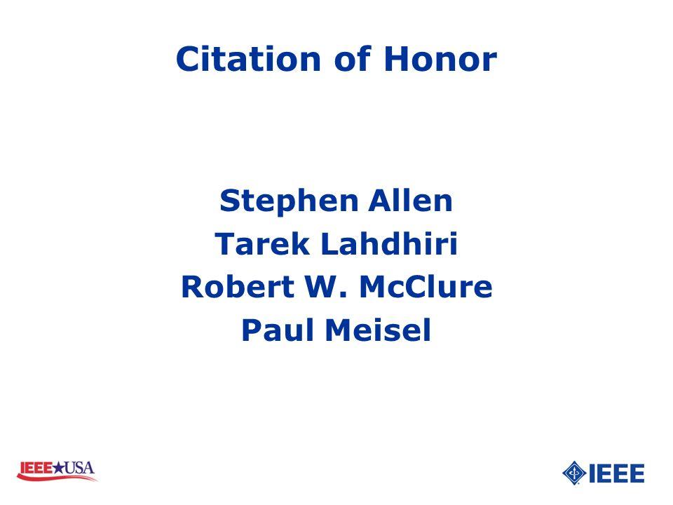 Stephen Allen Tarek Lahdhiri Robert W. McClure Paul Meisel