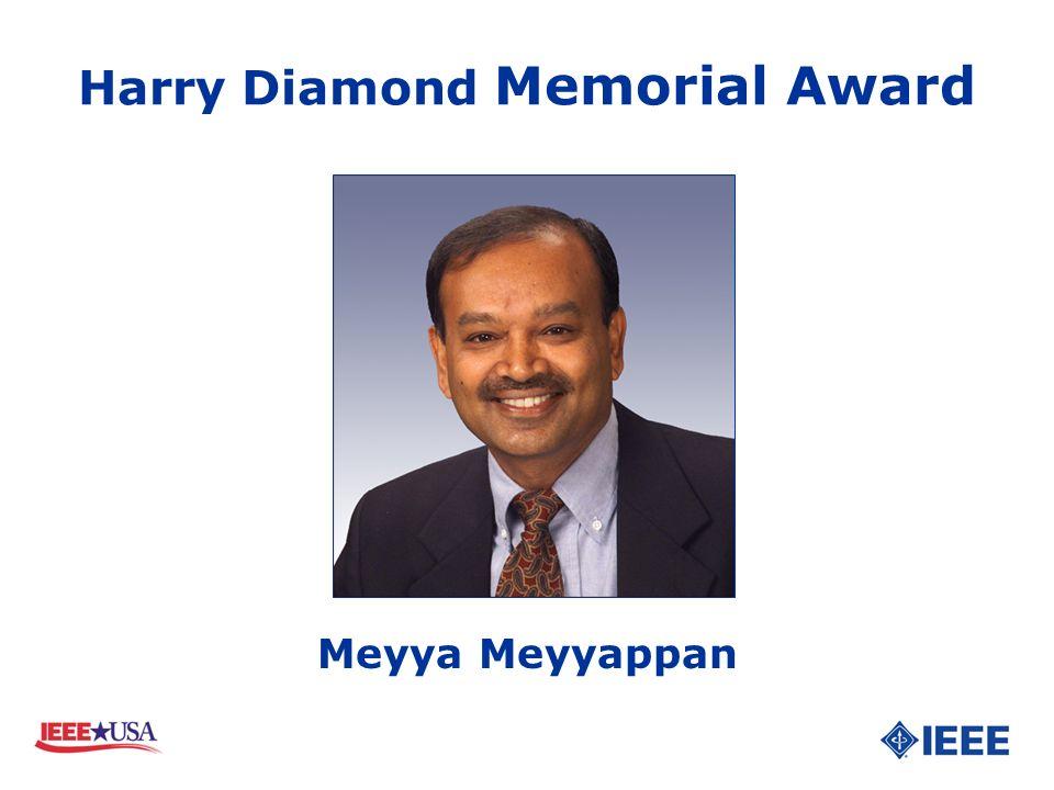 Harry Diamond Memorial Award Meyya Meyyappan