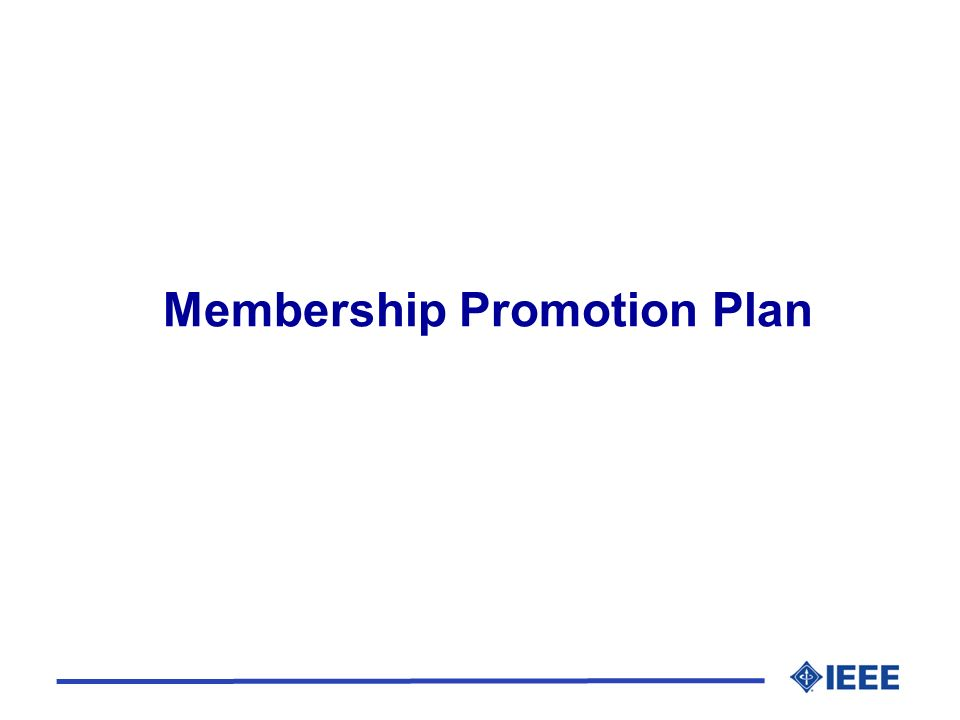 Membership Promotion Plan