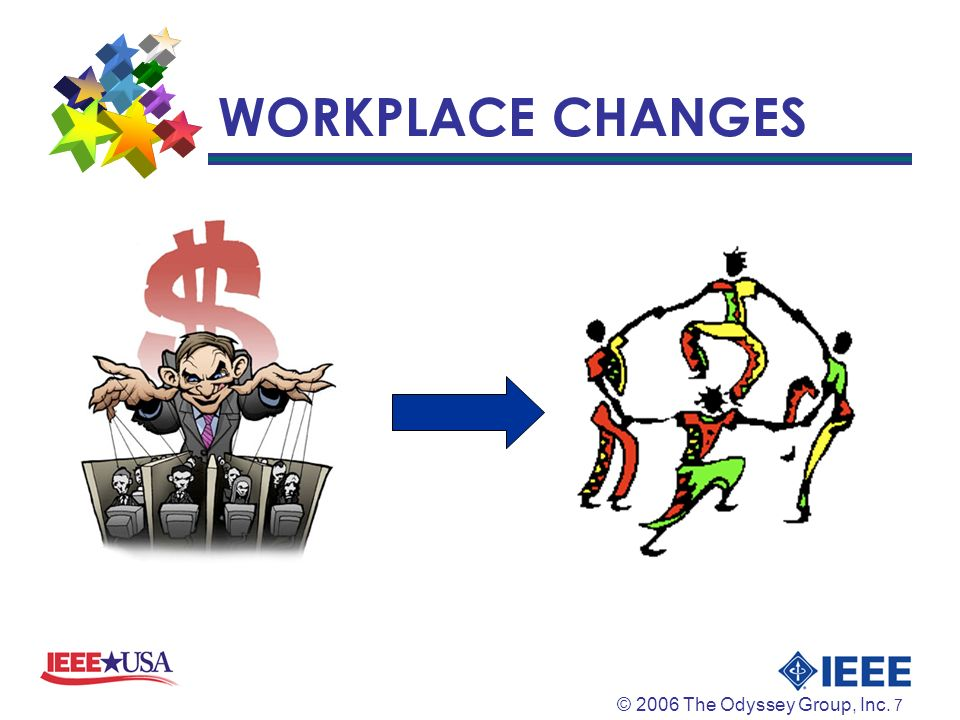 © 2006 The Odyssey Group, Inc. 7 WORKPLACE CHANGES