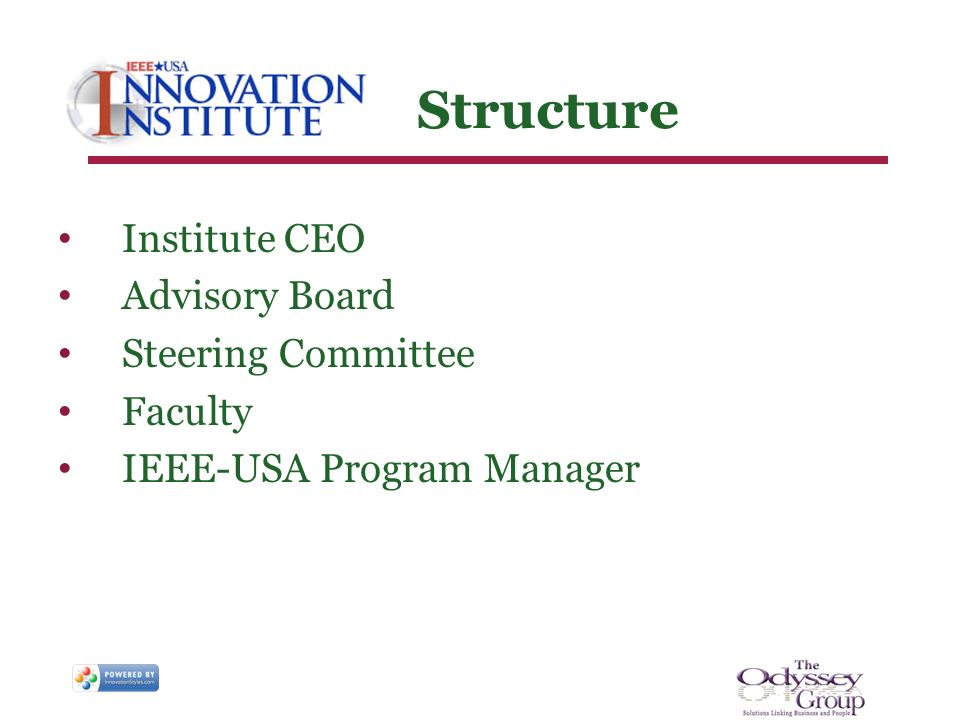 Structure Institute CEO Advisory Board Steering Committee Faculty IEEE-USA Program Manager