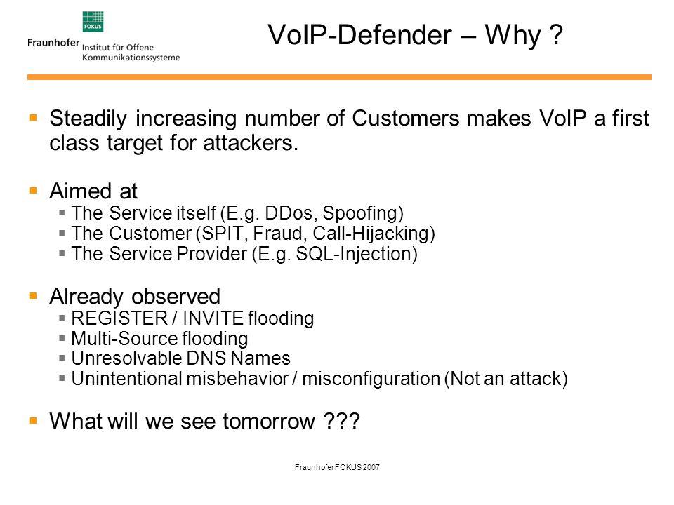 Fraunhofer FOKUS 2007 VoIP-Defender – What is it .