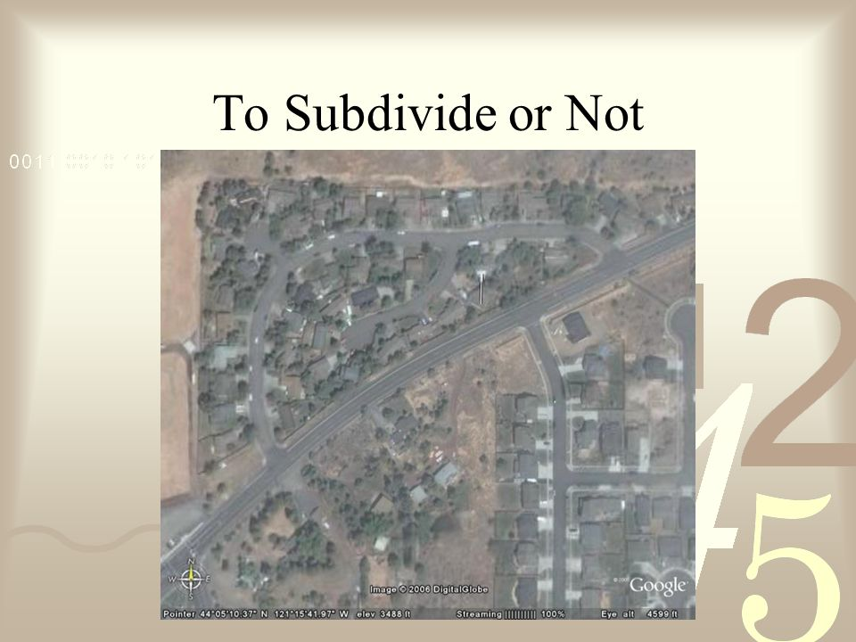 To Subdivide or Not