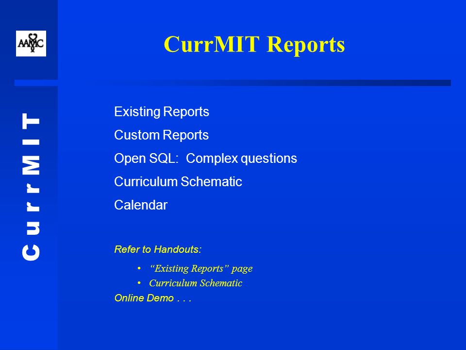 C u r r M I T Special Reports Surveys: We do them so you dont have to.