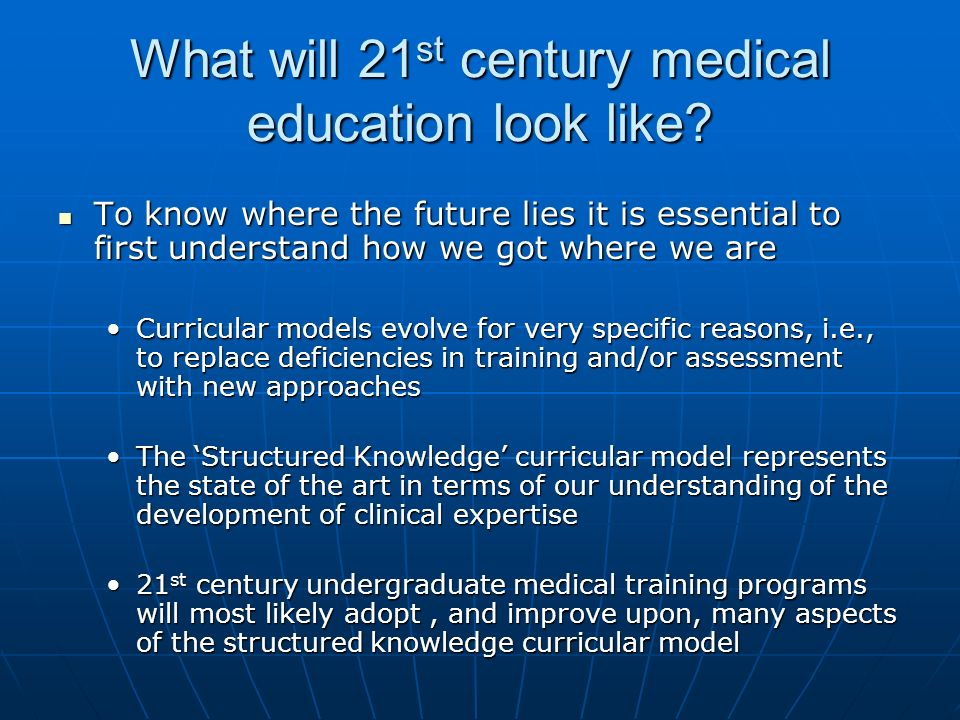 What will 21 st century medical education look like.