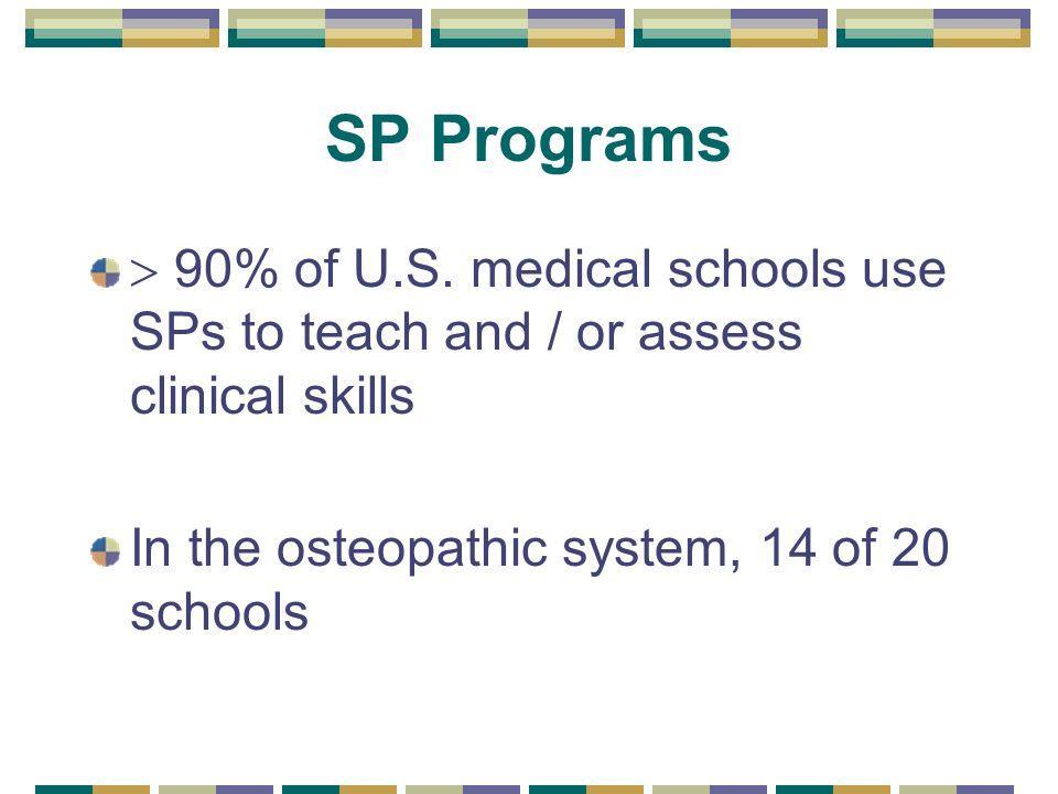 SP Programs 90% of U.S.