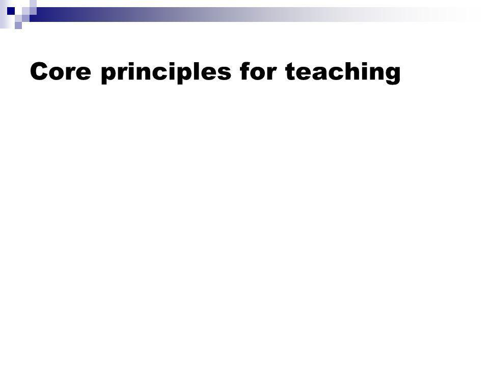 Core principles for teaching