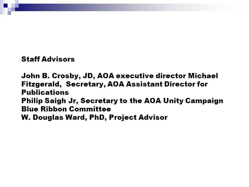Staff Advisors John B.