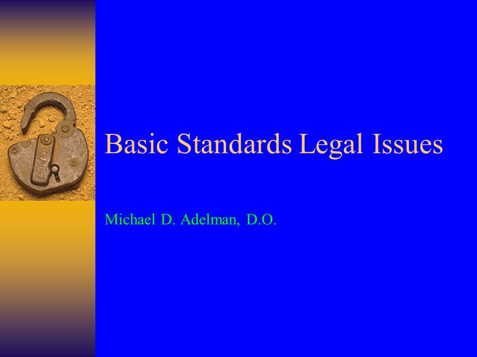 Create a Standard process Follow that Process Write clear unambiguous standards Train All evaluators to interpret the standards precisely the same way Review all standards to make sure they do not conflict with each other or with federal laws