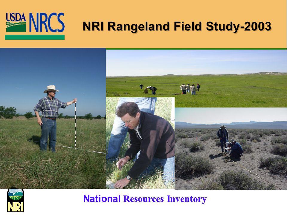 National Resources Inventory NRI Rangeland Field Study-2003
