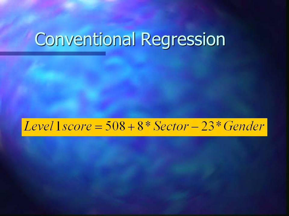 Conventional Regression