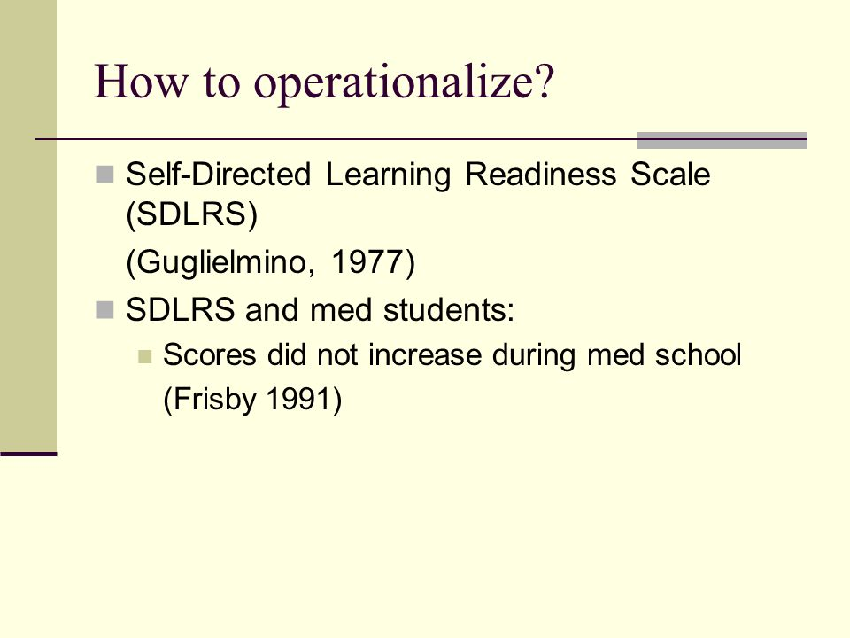 How to operationalize.