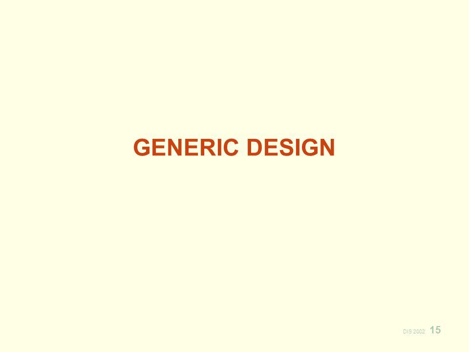 DIS 2002 15 GENERIC DESIGN