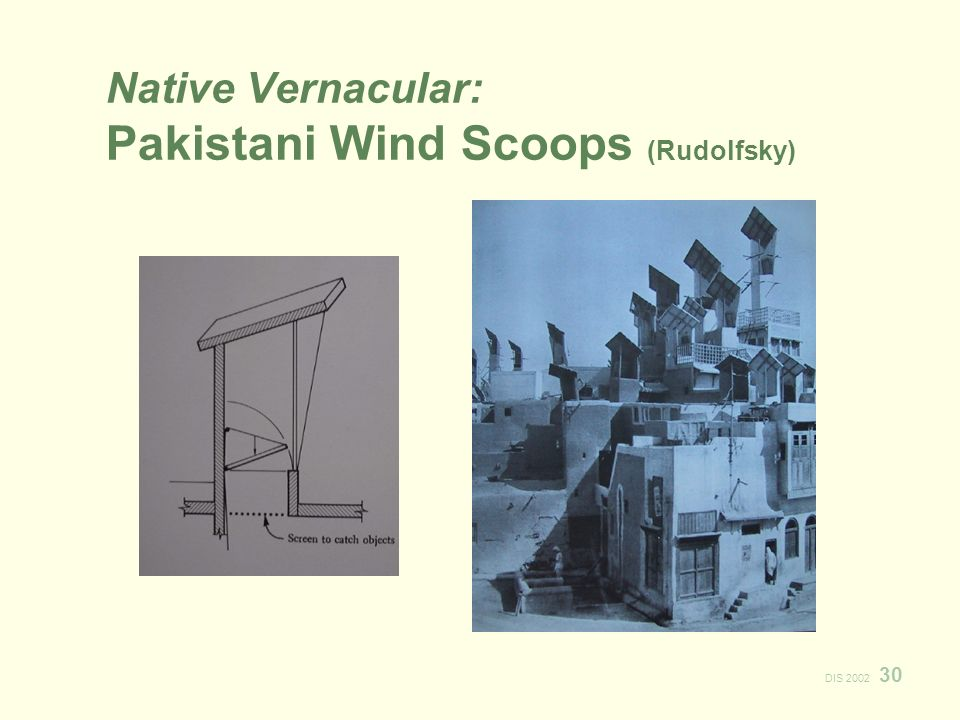 DIS Native Vernacular: Pakistani Wind Scoops (Rudolfsky)