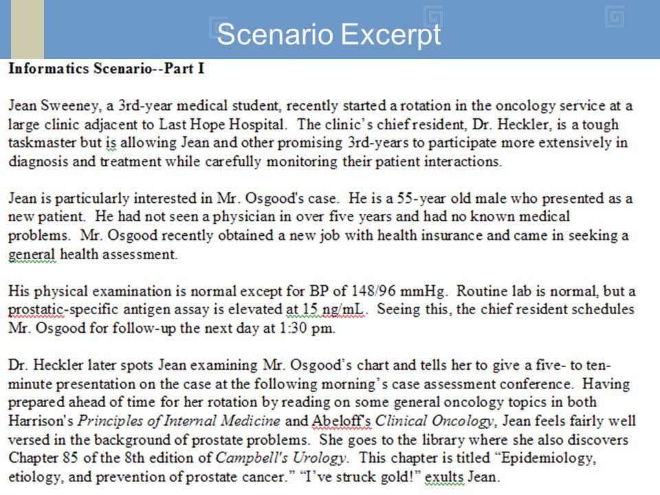 Scenario Excerpt