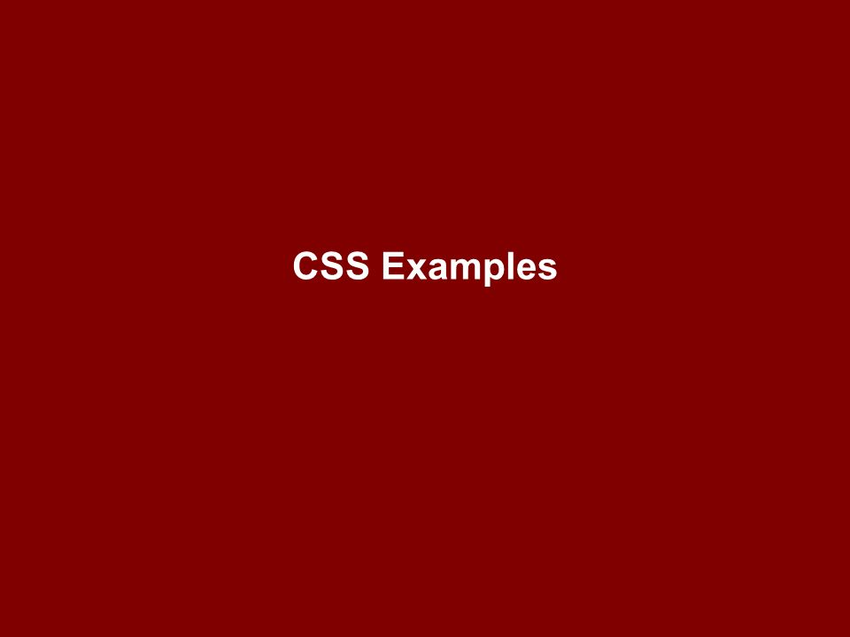 CSS Examples