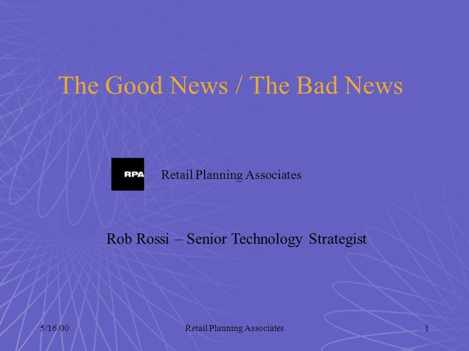 5/16/00Retail Planning Associates12 U.S.