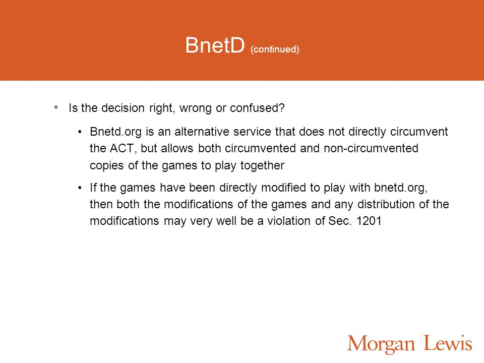 BnetD (continued) Is the decision right, wrong or confused.