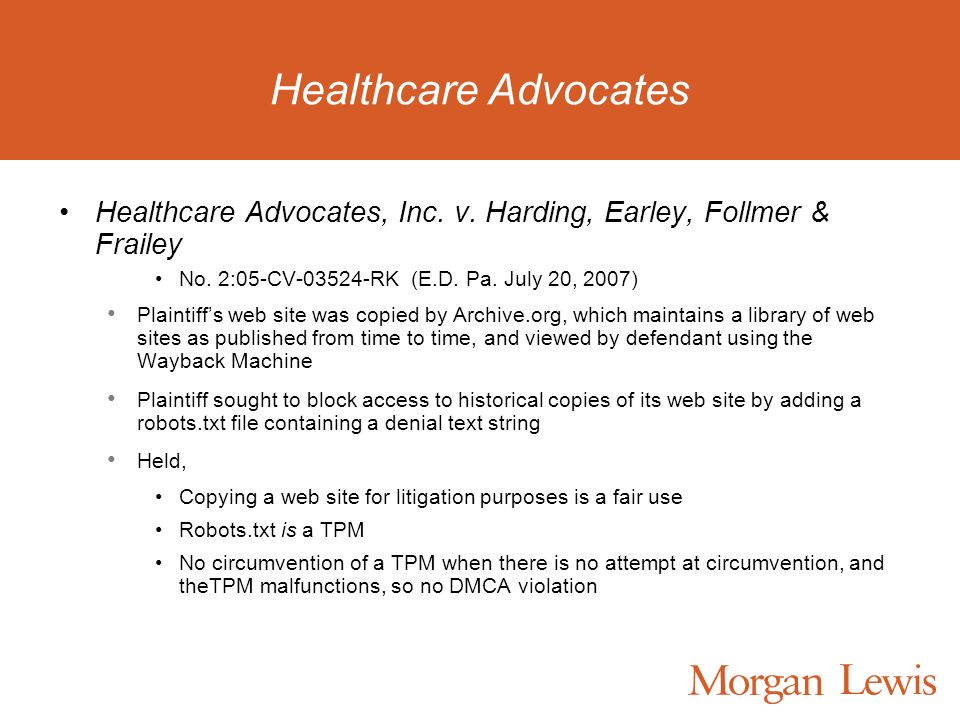 Healthcare Advocates Healthcare Advocates, Inc. v.