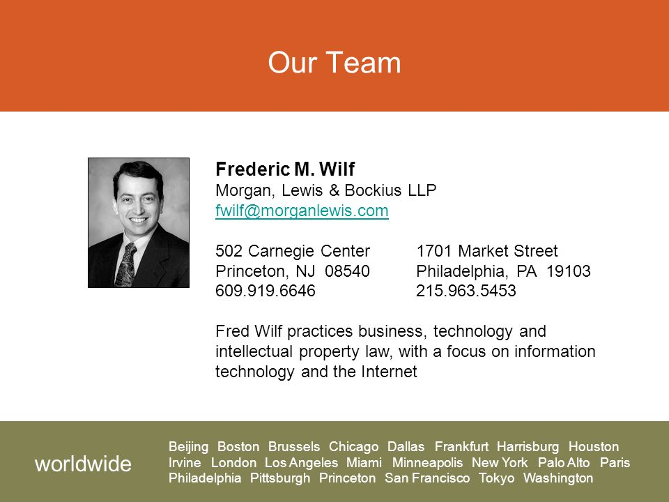 Our Team Frederic M.