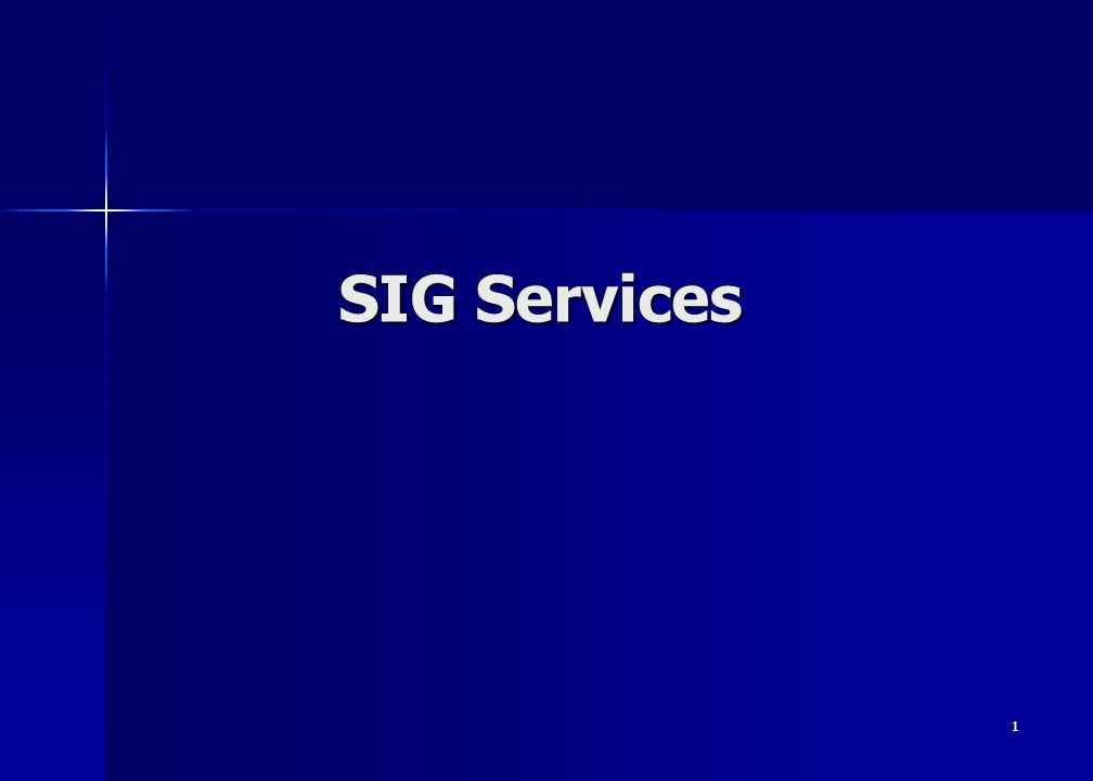 1 SIG Services