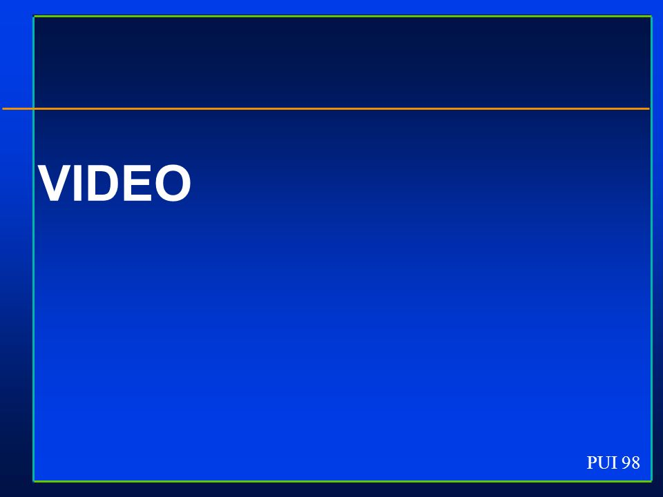 PUI 98 VIDEO