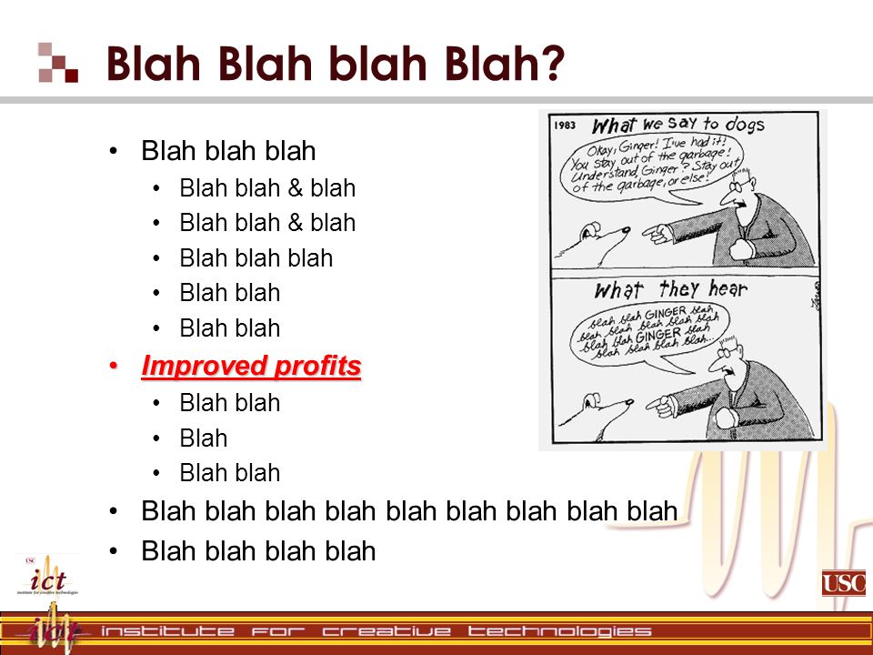Blah Blah blah Blah? Blah blah blah Blah blah & blah Blah blah blah Blah blah Improved profitsImproved profits Blah blah Blah Blah blah Blah blah blah
