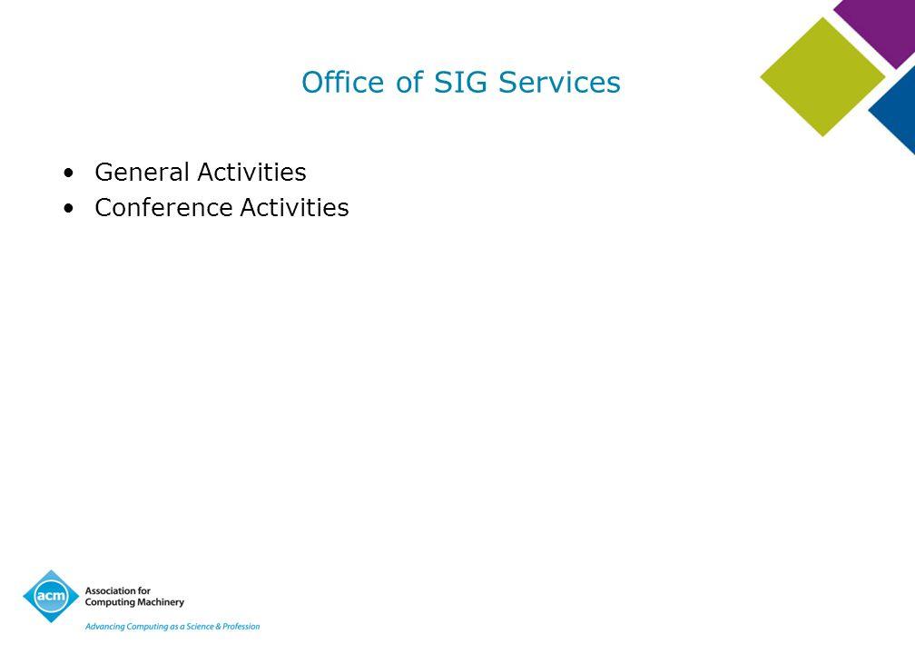General Activities Conference Activities