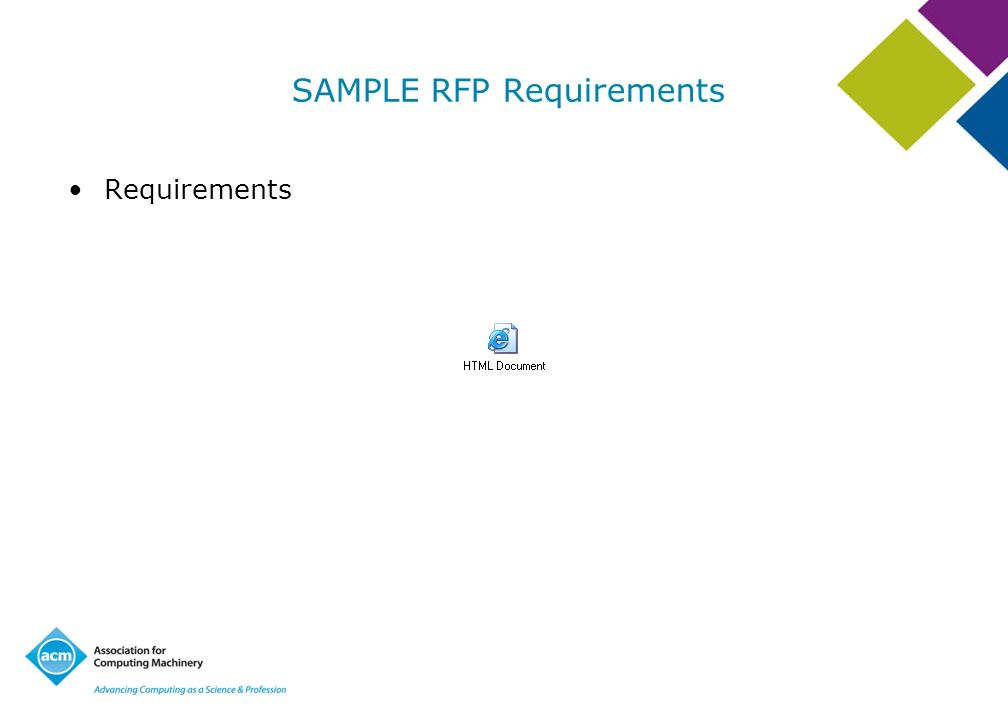 SAMPLE RFP Requirements Requirements