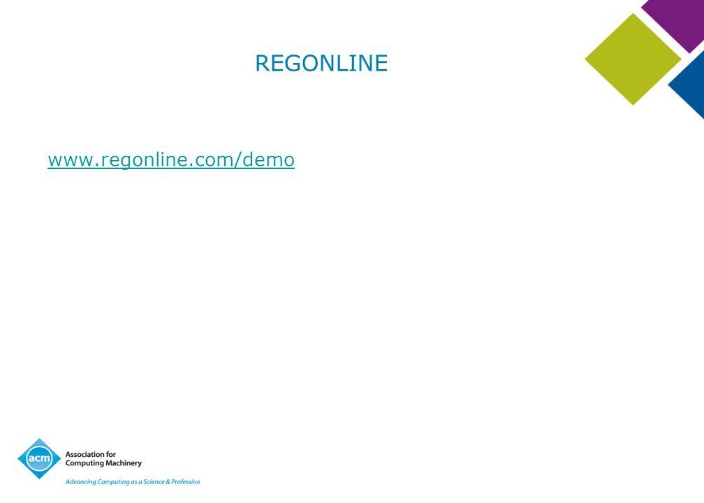 REGONLINE www.regonline.com/demo