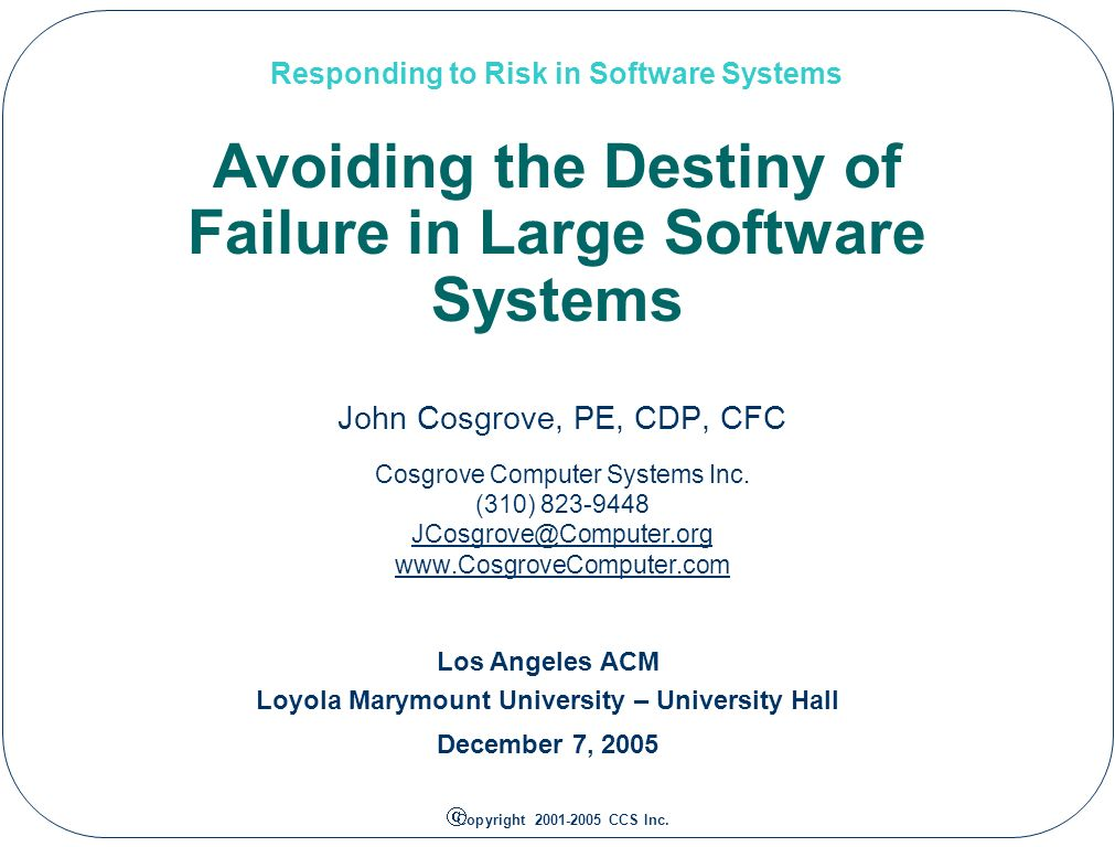 Responding to Risk in Software Systems 12 Software Creation What is a Social Learning Process?.
