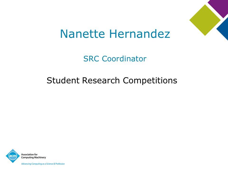 Nanette Hernandez SRC Coordinator Student Research Competitions