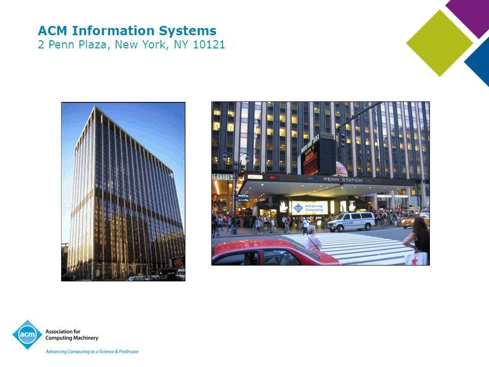 ACM Information Systems 2 Penn Plaza, New York, NY 10121