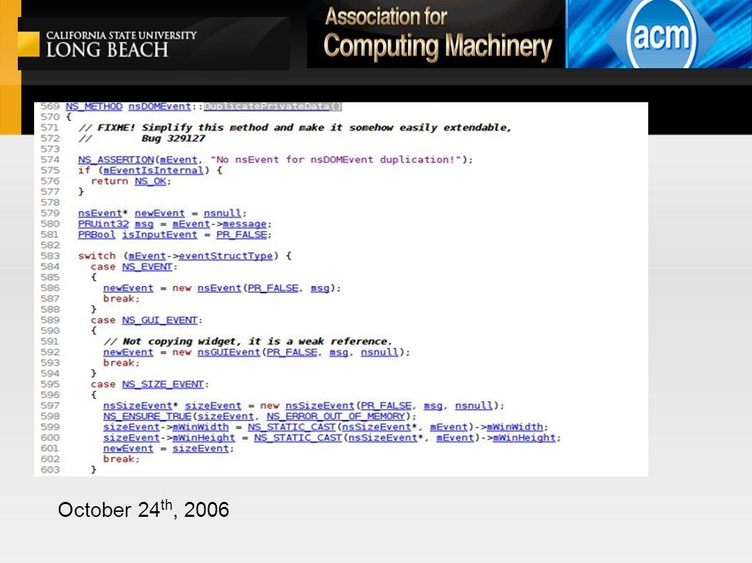 October 24 th, 2006