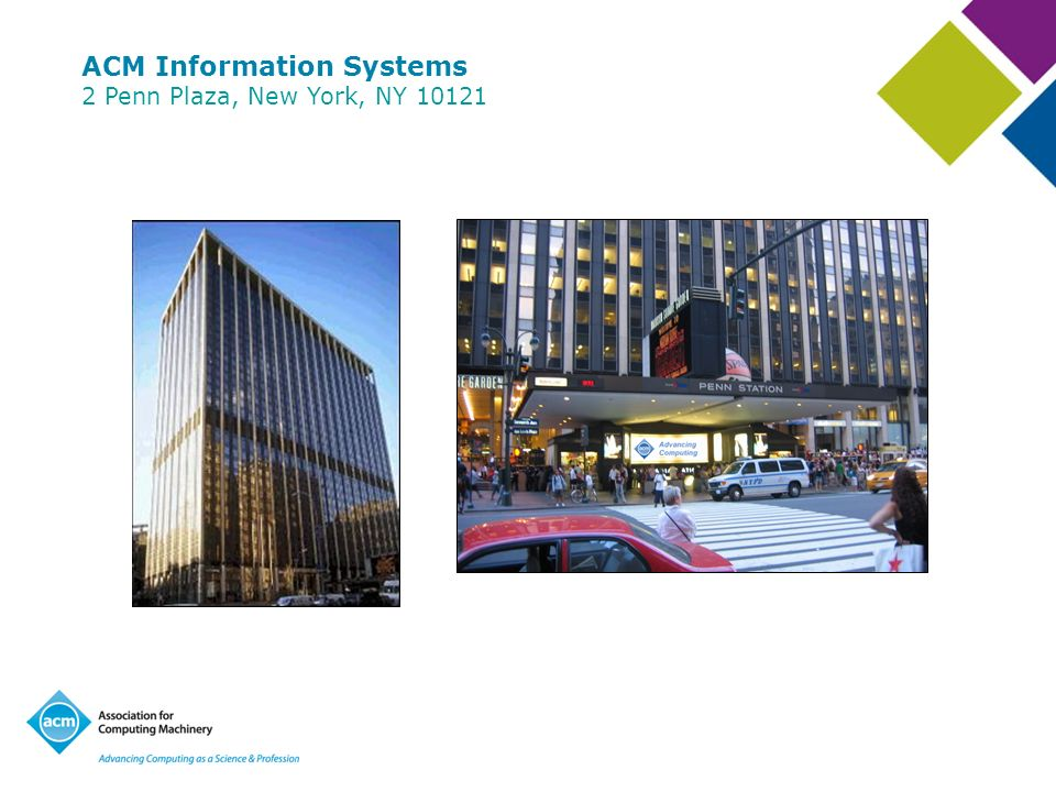 ACM Information Systems 2 Penn Plaza, New York, NY 10121