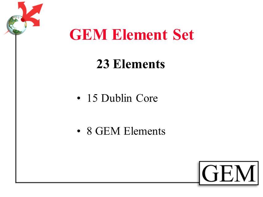 Metadata Continuum Simple & Terse Complex & Rich LycosDublin CoreUSMARC LocationDiscoveryDocumentation GEM Level 1 Cataloging GEM Level 2 Cataloging