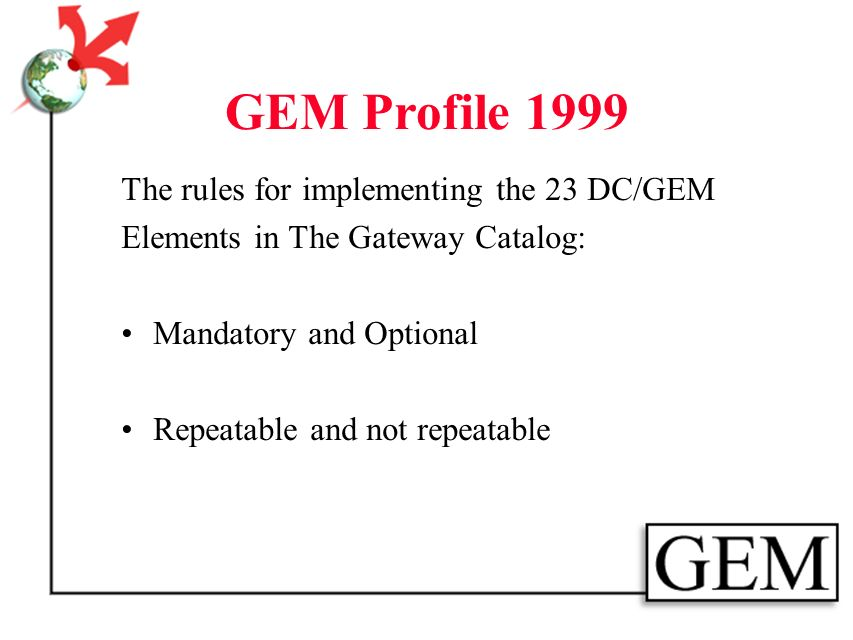 GEM Profile 1999