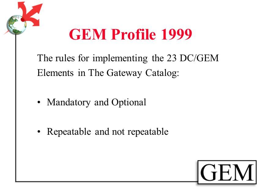 GEM Profile 1999