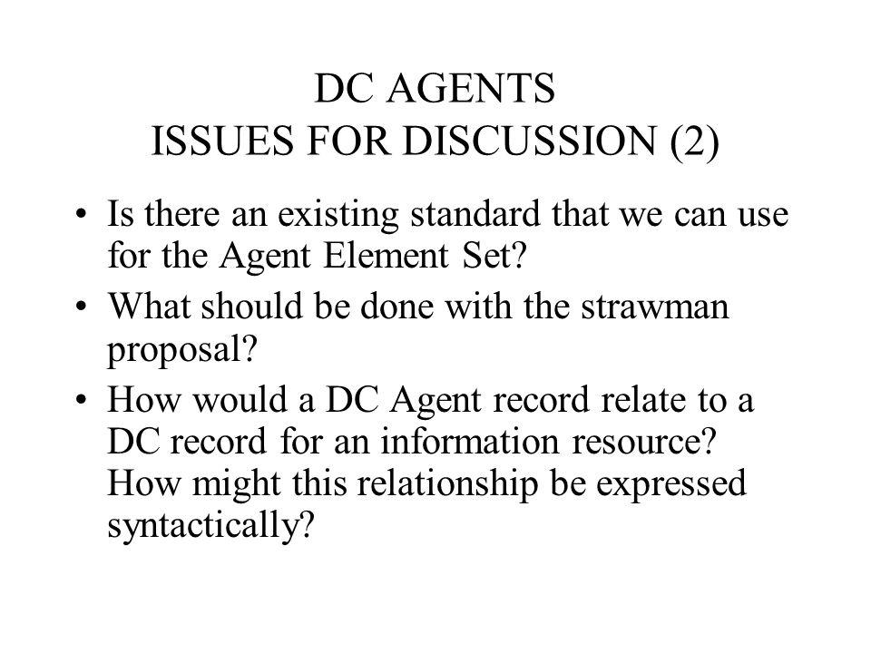 Agent descriptors alpha list (4) Government –Affiliation –Name –Jurisdiction –Type –Dates –Relation –Contact –Availability DING