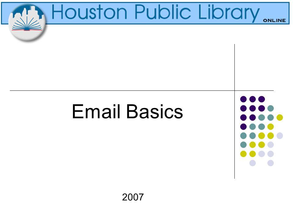 Email Basics 2007
