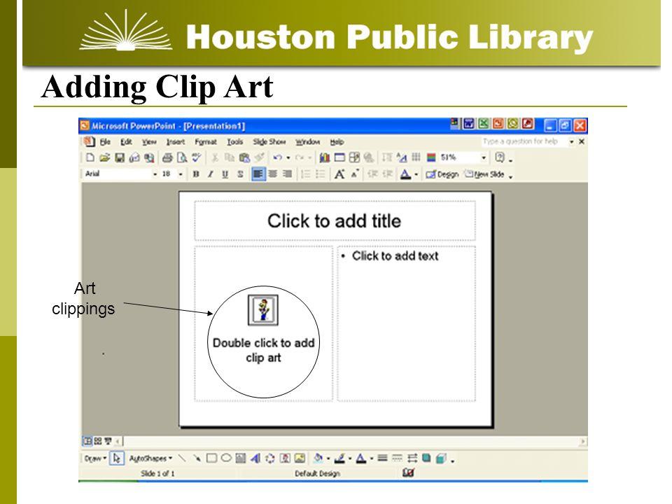 Adding Clip Art Art clippings