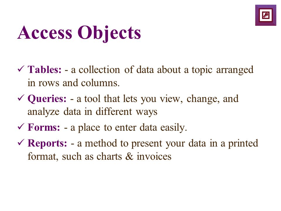 Access: Creating a Table