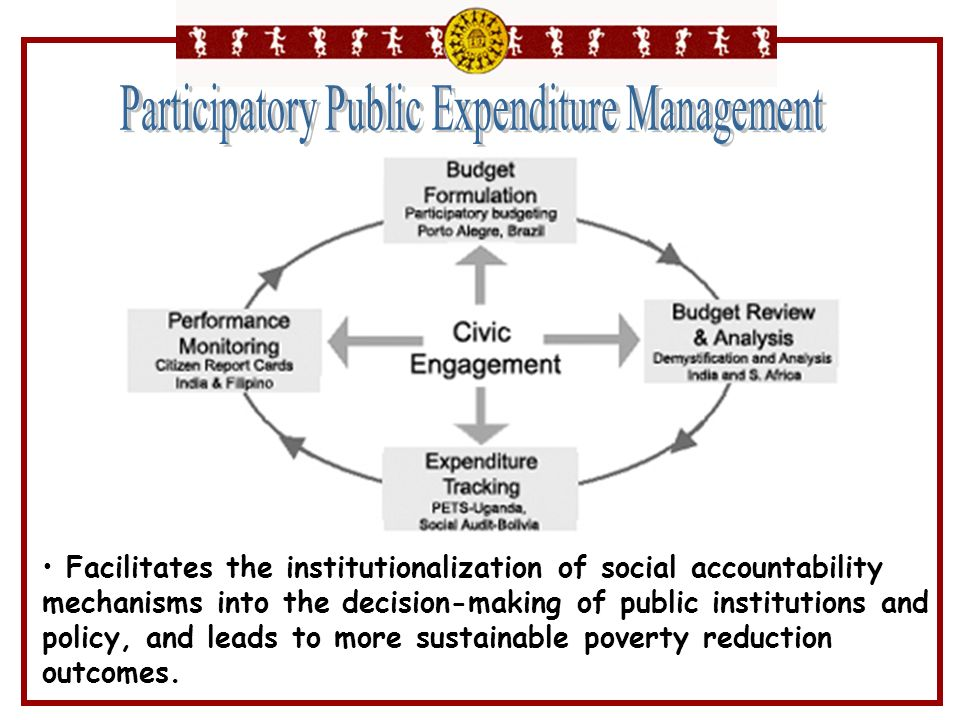 Facilitates the institutionalization of social accountability mechanisms into the decision-making of public institutions and policy, and leads to more