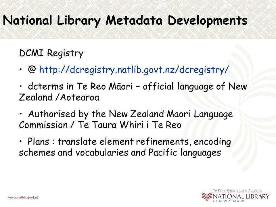Metadata Conversion Engine Descriptive Records MARC ISAD(G) Picture Australia Matapihi Govt Portal Digital Archive CROSSWALK DC XML METS DC RDF/XML Discover Additional Data DRD RDF AP NZGLS DC RDF/XML Metadata Conversion Engine
