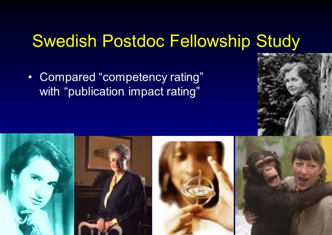 Swedish Postdoc Fellowship Study Compared competency rating with publication impact rating