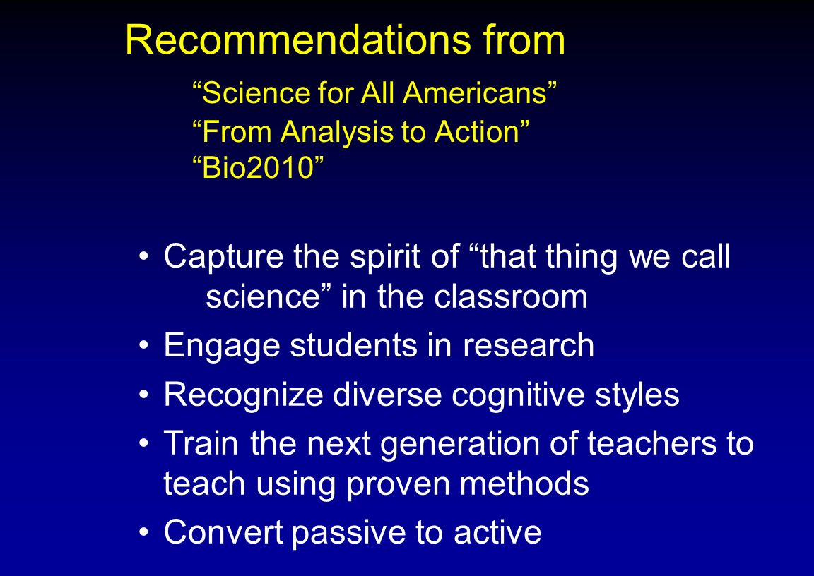 Diversity in the Classroom Cognitive styles Learning styles Unconscious bias Do we treat all of our students the same?
